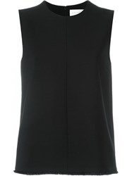 Victoria Victoria Beckham Fringed Hem Sleeveless Top Black