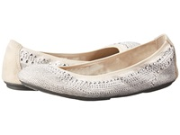 Hush Puppies Chaste Ballet Silver Stud Women's Flat Shoes White