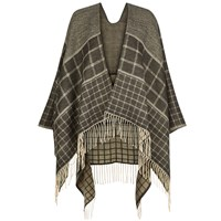 Hobbs Natalie Check Wrap Grey Multi Grey Multi