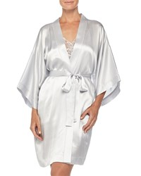 Neiman Marcus Silk Short Robe Women's