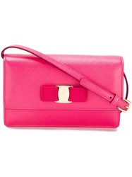 Salvatore Ferragamo Flap Crossbody Bag Pink And Purple