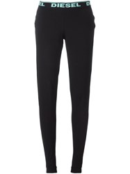 Diesel Logo Print Leggings Black