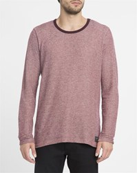 Forvert Burgundy Basic Mike Ls T Shirt