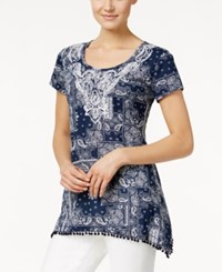 Styleandco. Style And Co. Handkerchief Hem Embroidered Top Only At Macy's Independent Patch