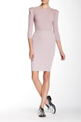 Stella And Jamie Yves Ribbed Pencil Skirt Pink