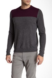 Forte Colorblock Cashmere Sweater Gray