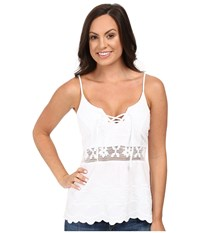 Scully Flirty Girl Summer Top White Women's Clothing