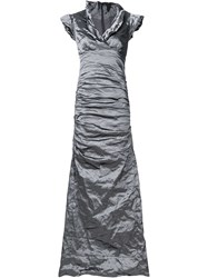 Nicole Miller Crinkle Dress Grey