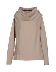 European Culture Sweatshirts Beige