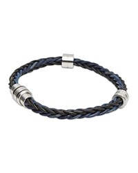 Ted Baker Block Two Tone Woven Bracelet Charcoal