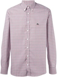 Etro Checked Shirt Red