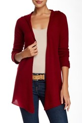 Philosophy Cashmere Cashmere Hooded Cardigan Red