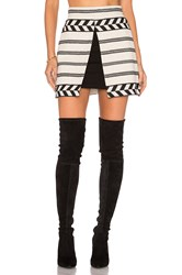 Alice Olivia Daysi Mini Skirt Beige