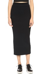 Dkny Ribbed Midi Tube Skirt Black