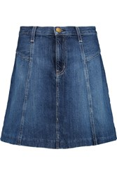 Current Elliott The Skater Denim Mini Skirt Blue