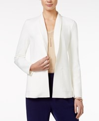 Armani Exchange Open Front Blazer A Macy's Exclusive White
