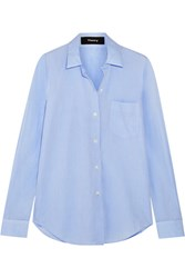 Theory Cotton Shirt Light Blue