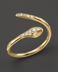 Zoe Chicco 14K Yellow Gold And Diamond Snake Ring
