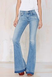 A Gold E Madison Distressed Flare Jeans