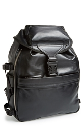 Alexander Mcqueen Leather Tech Backpack Black