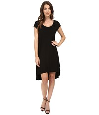 Three Dots Tracy Easy High Low Dress Black Women's Dress