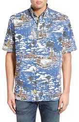 Men's Reyn Spooner 'West Coastin' Short Sleeve Sport Shirt