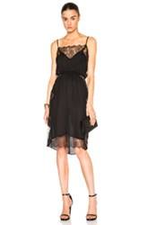 Fleur Du Mal Rose Lace Midi Dress In Black