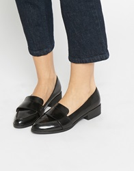 New Look Pointed Workwear Loafers Black