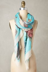 Anthropologie Bride Square Scarf Blue