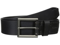 Calvin Klein 38Mm Flat Strap Smooth Matte Leather Harness Buckle Black Men's Belts