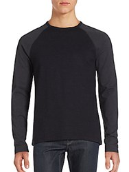 Saks Fifth Avenue Red Raglan Sleeve Speckled T Shirt Black