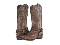 Stetson Snip Toe Harness Boot Brown Crackle Cowboy Boots Gray