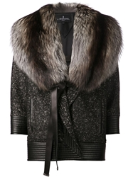 J. Mendel Oversized Coat Black
