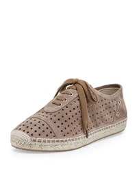 Jimmy Choo Dara Star Perforated Espadrille Sneaker Light Mocha