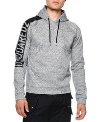 Dsquared Logo Sleeve Hooded Sweatshirt Gray