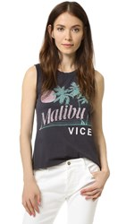 Sol Angeles Malibu Vice Muscle Tank Black