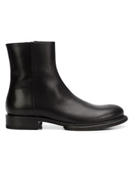 Ann Demeulemeester Flat Ankle Boots Black