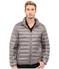 Tumi Patrol Packable Travel Puffer Jacket Silver Grey Men's Coat Gray