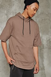 Forever 21 Boxy Short Sleeve Hoodie