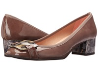 French Sole Royal Patent Taupe Women's Shoes
