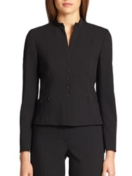 Akris Punto Essentials Wool Zipper Detail Jacket Black