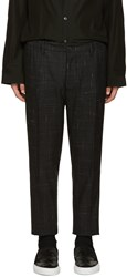 Dsquared Grey Wool Check Dan Trousers