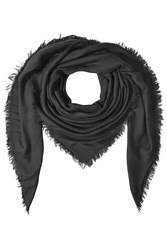 The Kooples Fringed Scarf Black