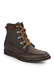 French Connection Cain Leather Blend Boots Brown
