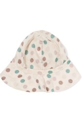 Marni Printed Cotton Blend Hat Gray
