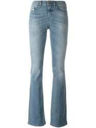 Diesel Stonewashed Flared Jeans Blue