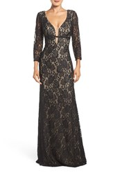 La Femme Women's Open Back Lace Gown