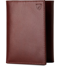 Aspinal Of London Trifold Leather Wallet Cognac