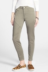 Fire Quilted Skinny Pants Green