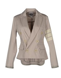 Y 3 Suits And Jackets Blazers Women Light Grey